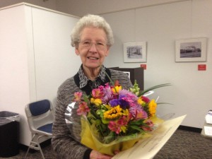 Clare Pankratz celebrated 50 years as an AAUW member - January 2014.