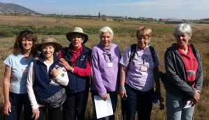 Terry Campbell Caron, Judy DeTar, Jo Murphy, Pam Jones, Nancy Slinkard, Carol Tobiassen on a wildflower stroll in Rocky Mountain National Park.